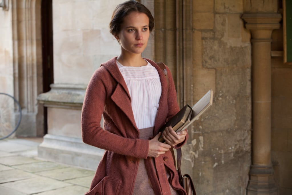 """Vikander as Vera Brittain in Testament of Youth. Vikander is clearly a productive actress. But, more importantly, she's incredibly talented. Vikander's skills are masterfully displayed in Testament of Youth, in which she vividly brings to life the story of Brittain, who overcame serious loss to become a female academic in an era when that was a rare feat.   """"I tried to stay true to the character,"""" Vikander said of her portrayal of Brittain. """"Of course, my own experiences, emotions, ideas, and fantasies are what I use to create another character. But in the beginning, I liked reading [Brittain's] book. She was an extraordinary woman and she had such dedication to what she later on took on. She was a big feminist and pacifist. I wanted to pay respect to the actual journey that she made."""""""