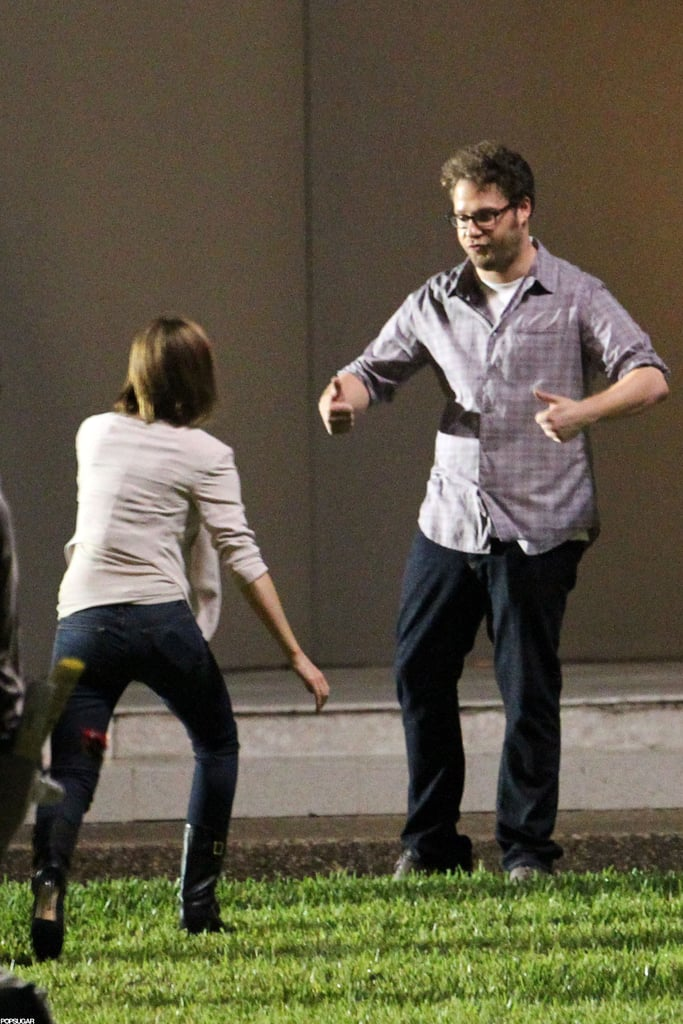 Seth Rogan and Emma Watson had fun filming The End of the World in New Orleans.