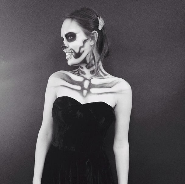 Atlanta de Cadenet was skin and bones in her ghoulish makeup. Source: Instagram user atlantabean