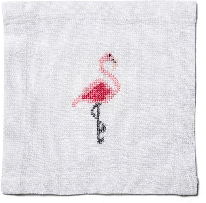 The Designs of Distinction S/4 Flamingo Cocktail Napkin, Pink ($25)