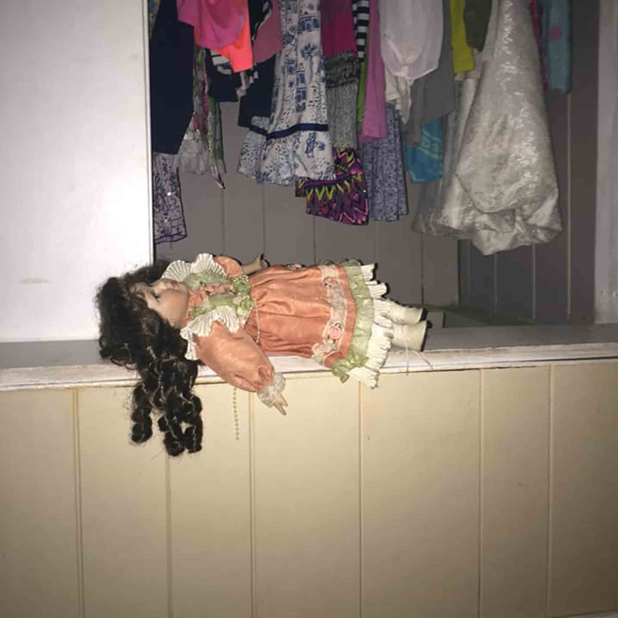 mom replaces elf on the shelf with doll in the hall popsugar family