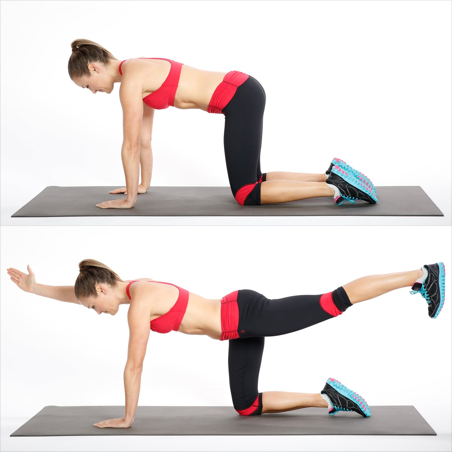 How To Do Bird Dog Exercise For Your Back Popsugar Fitness