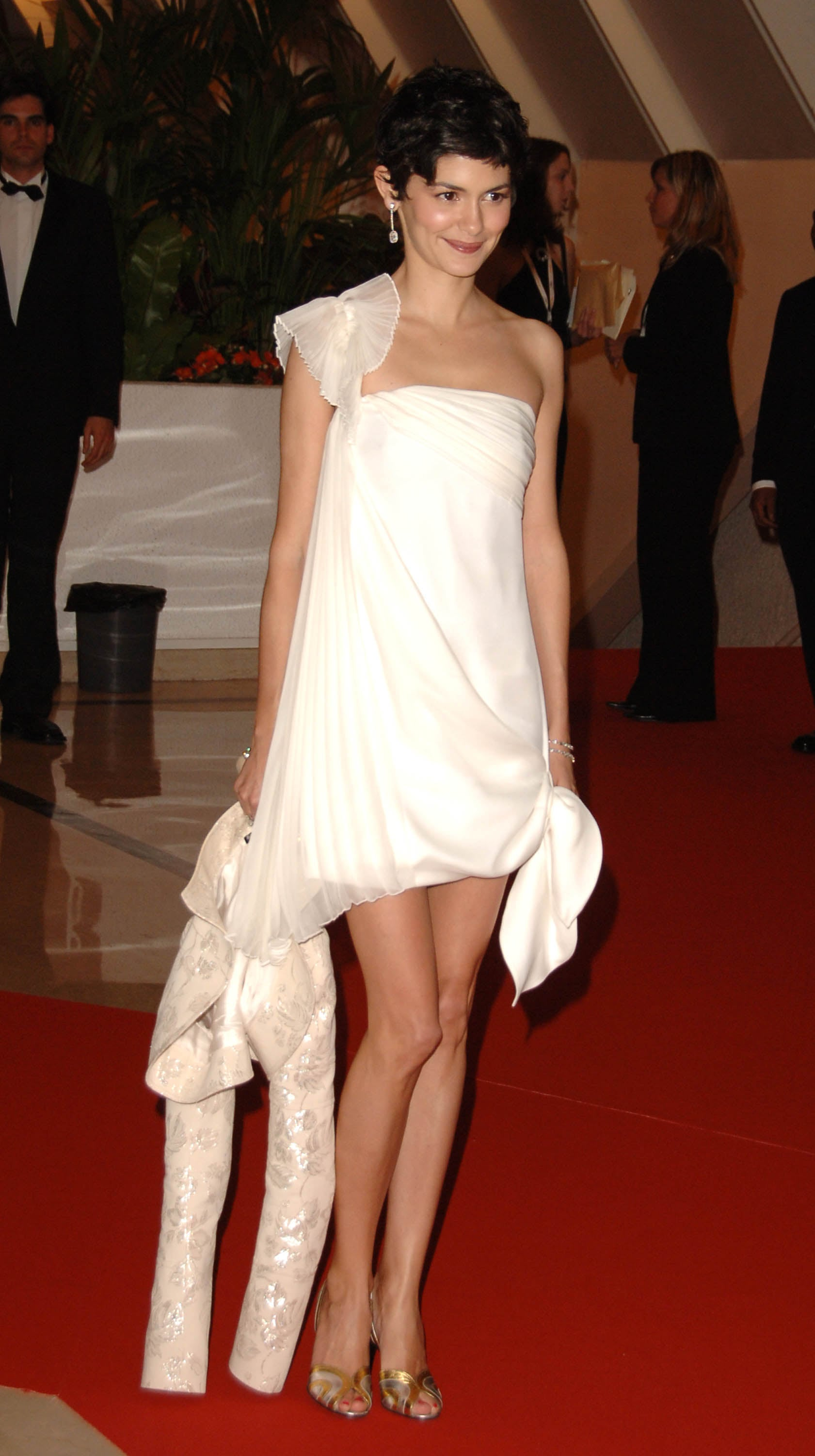 Audrey Tatou wore a white cocktail dress and jacket to the festival's gala dinner in 2006.