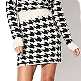 Vylette Houndstooth Sweater Skirt