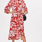 Topshop Fern Print Dress