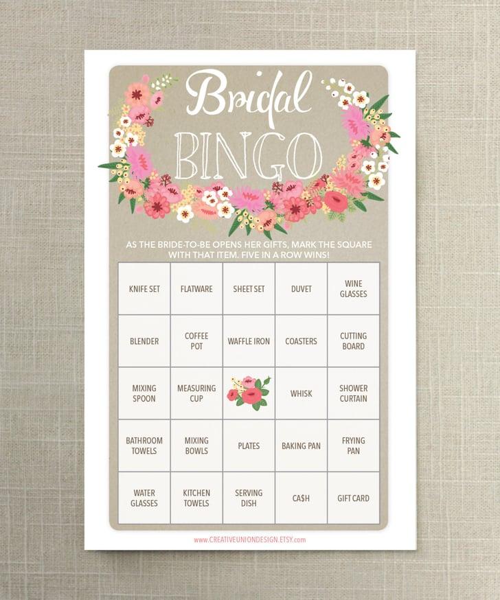 Wedding Bingo: Printable Bridal Shower Games