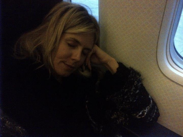 Heidi Klum caught a flight home after the Met party wrapped. Source: Twitter User heidiklum