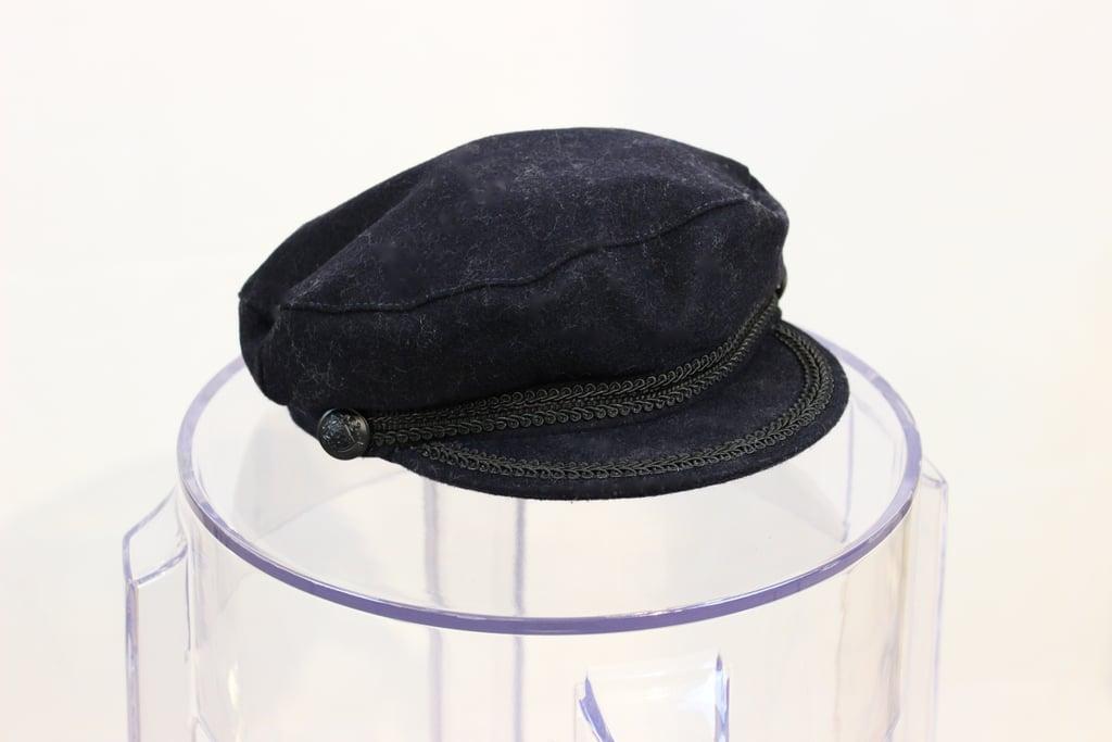 4100087ffb3 Navy felt Baker s boy hat from ZARA