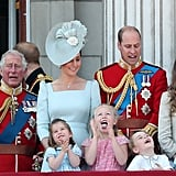 Prince George Princess Charlotte Trooping the Colour 2018