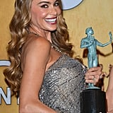 Sofia Vergara flashed a genuine smile after her win for Modern Family.