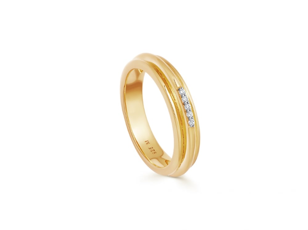 Missoma Lucy Williams Gold Pave Ridge Ring