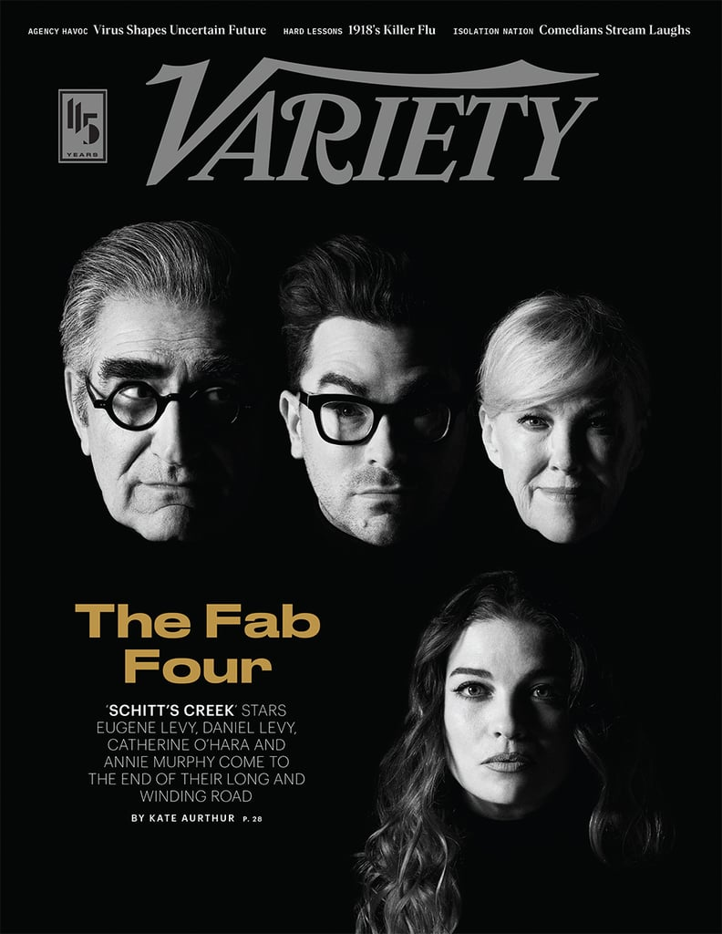 Schitt's Creek is officially ending after six glorious seasons on April 7, but before we say goodbye, the cast are spilling some fun facts about the show. Catherine O'Hara, Annie Murphy, and Dan and Eugene Levy are all featured in Variety's latest issue, and in the accompanying interview, they talked about everything from who Moira Rose is partly inspired by to whether creators Dan and Eugene have any plans to return to Schitt's Creek in the future. Spoiler: they're not totally ruling out the possibility! Ahead of the show's finale and documentary special, keep reading to see everything the cast revealed about the series.       Related:                                                                                                                                The Schitt's Creek Cast Hilariously Argue Over Who Cried Most During the Final Season