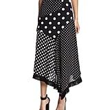 Andrew Gn Asymmetric Polka-Dot Skirt