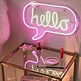 Hello Neon Sign