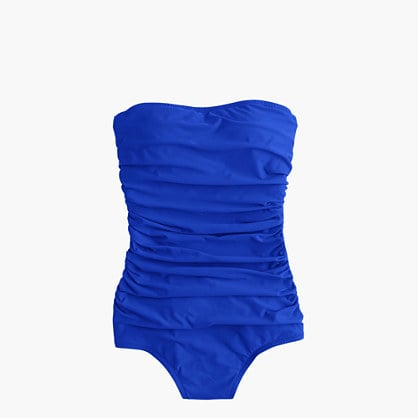 16f3eb8f824 J.Crew Ruched bandeau one-piece swimsuit
