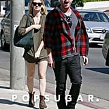 Aaron Paul and Lauren Parsekian headed to lunch together in LA.