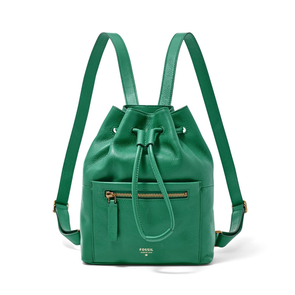 This leather Vickery Drawstring Backpack ($168) is structured enough to pack the essentials and quirky enough to colorblock with.
