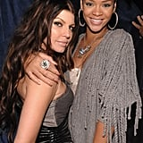 Rihanna and Fergie at Peas Party