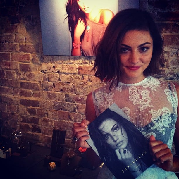 Phoebe Tonkin's campaign for jeweller Jan Logan was revealed during the week, and Phoebe shared this shot from the launch party. Source: Instagram user phoebejtonkin