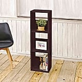 Way Basics Tool-Free Assembly Three Shelf Trio Narrow Bookcase and Storage Shelf in Espresso