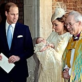 At Prince George's christening, Kate only had eyes for her adorable bundle.       Related:                                                                                                           No Joke, Prince Louis's Christening Gown Is a Replica of a Dress Royal Babies Have Worn Since 1841