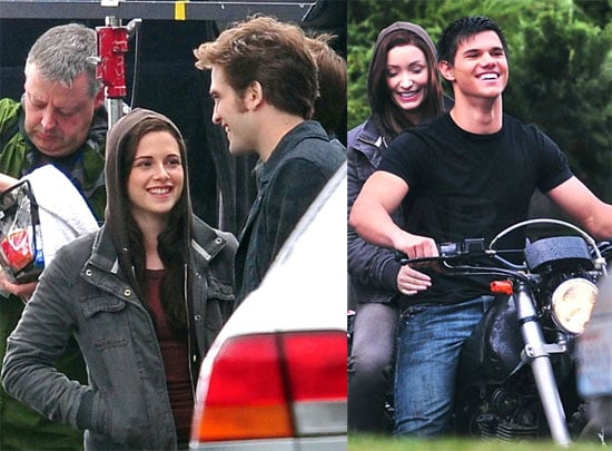 Photos of Robert Pattinson, Kristen Stewart, and Taylor Lautner Filming Eclipse in Vancouver