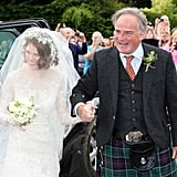Some guests — including Rose's dad — wore traditional Scottish kilts.