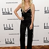 Maybe Ellie Goulding is really a rock 'n' roll girl at heart? The songstress stepped out in a satin jumpsuit from Matthew Williamson's 2014 Autumn/Winter collection.