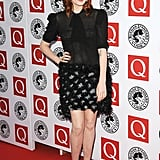 Florence wore an Yves Saint Laurent Autumn '10 look.