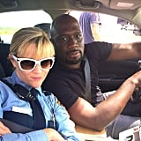 The star shared a behind-the-scenes look from her movie Hot Pursuit.