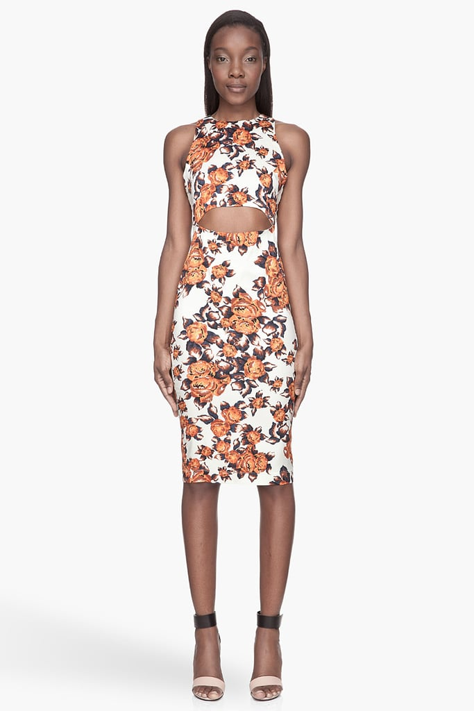 Cocktail dressing, the way Suno floral-print stretch-silk dress ($695), and I'll hope to channel a little of those style setters' brand of chic whenever I wear it. — Hannah Weil
