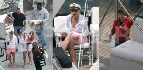 Captain Britney Takes Her Baby Boys Boating