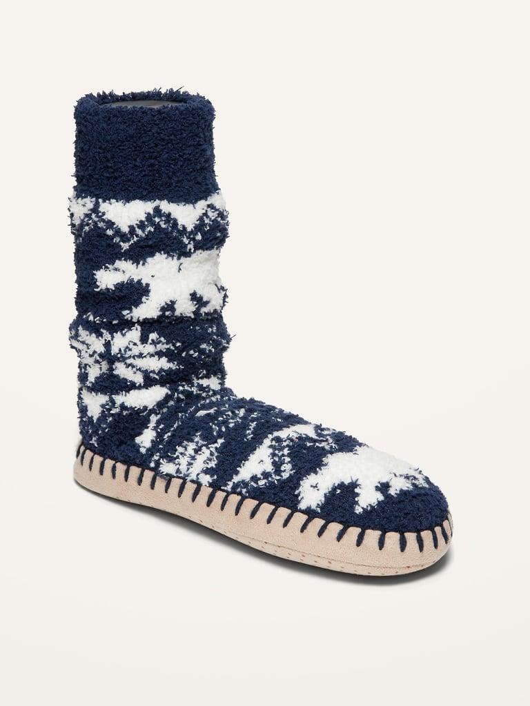 Cozy Patterned Slipper Socks