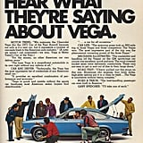 This Chevy Vega ad takes a more wholesome angle.