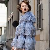 Amanda Baldan Paneled Faux-Fur Chubby Coat