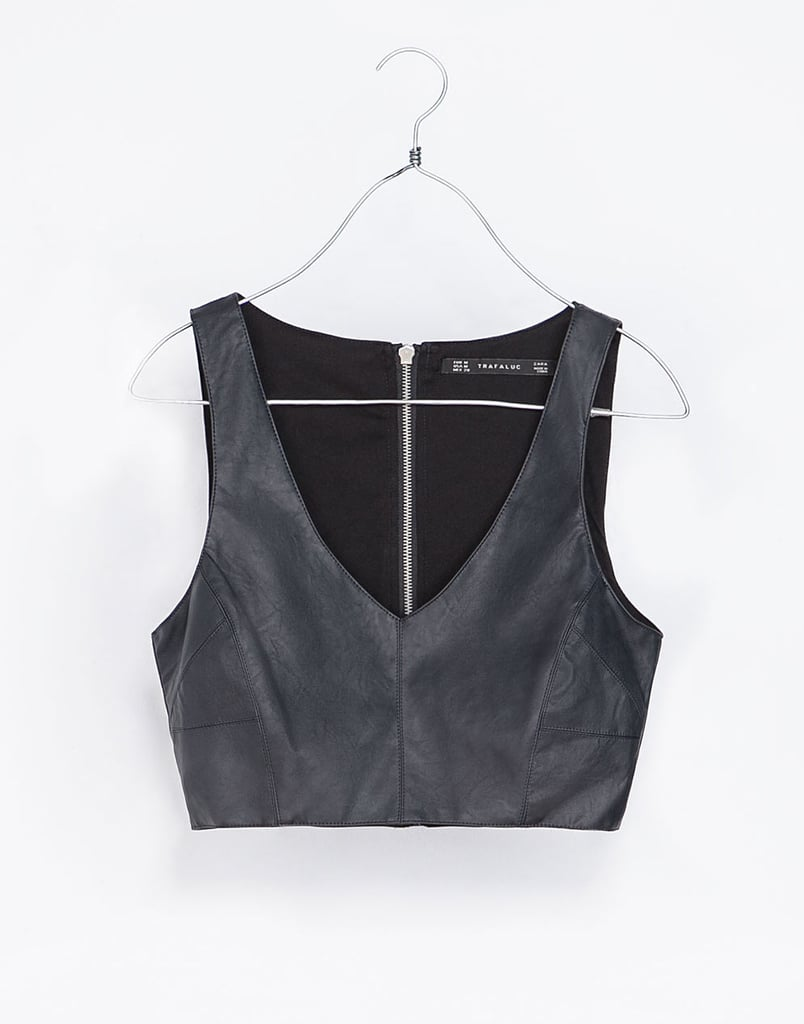 The key to keeping a piece like this Zara crop top ($36) from reading too sexy? Pair it with proper bottoms like a high-waisted pencil skirt or wide-leg pants.