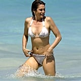 Cindy Crawford hit the beach with her family in St. Barts in April 2017.