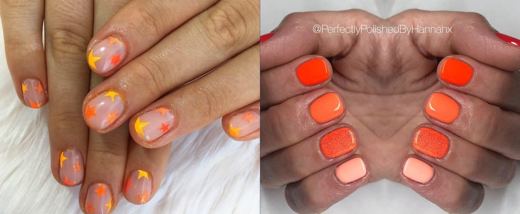 Neon Orange Nail Art Ideas