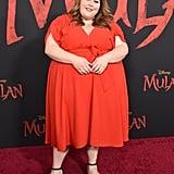 كريسي ميتز في العرض العالمي الأول لفيلم مولان في لوس أنجلوس