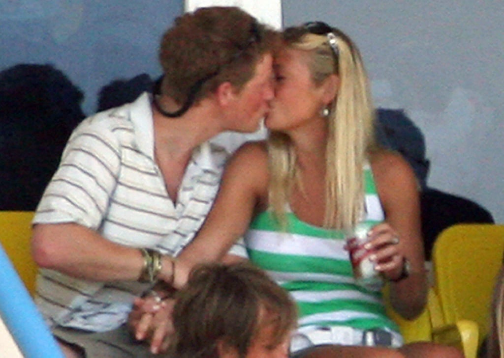 Harry with Chelsy Davy at the cricket world cup in 2007.