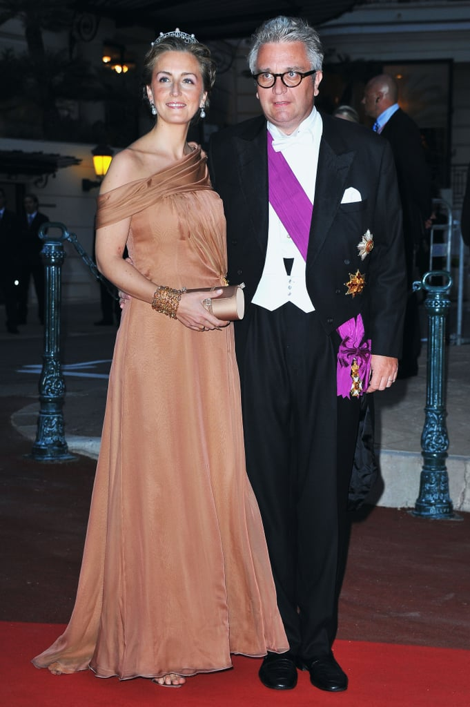 Prince Laurent of Belgium attended a dinner at Opera terraces after the religious wedding ceremony of Prince Albert II of Monaco and Princess Charlene of Monaco.