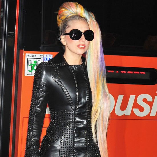 Lady Gaga Has Pink, Blue, Yellow and Purple Hair