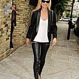 25. She Wears Leather Trousers Effortlessly