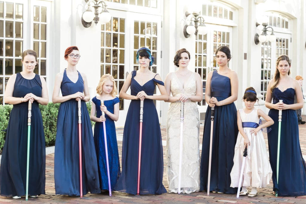 This Star Wars And Great Gatsby Themed Wedding Saw Bridesmaids Clad