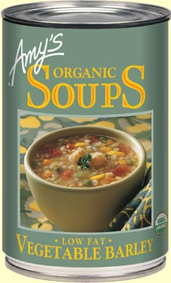 More From Amy's Kitchen:  Organic Vegetable Barley Soup