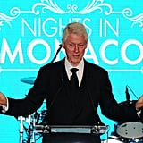Bill Clinton got animated as he spoke at the Nights in Monaco Gala Fundraiser.