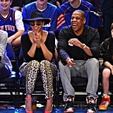 Jay-Z and Beyoncé Knowles cheered on the Knicks.