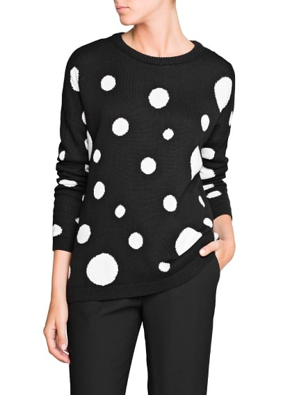 Sweater weather was never sweeter, thanks to this Mango polka-dot loose-fit sweater ($35).