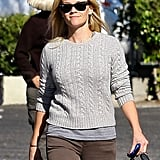 Reese Witherspoon layered up for Fall weather.
