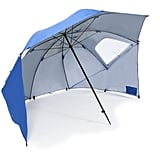The clever design of the Sport-Brella ($60) makes it a hybrid umbrella, sun tent, and wind shelter.